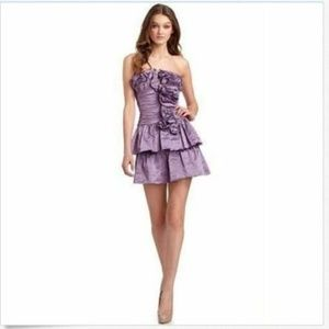 NEW BCBG Violet Marcella Dress 2 Cocktail Ruffle